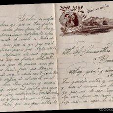 Cartas comerciales: L1-695 CARTA DE AMOR PUBLICITARIA ROMÁNTICA = SIEMPRE UNIDOS = AÑO 1953. Lote 56180646