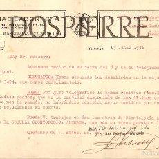 Cartas comerciales: CARTA COMERCIAL, EDITORIAL LABOR, BARCELONA , 1936. Lote 56254939