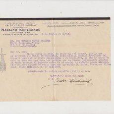 Lettere commerciali: MARIANO MONTESINOS - ELDA 1951 - LA BELGA ESPAÑOLA - FABRICA DE CONSERVAS VEGETALES. Lote 56297098