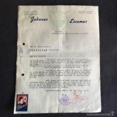 Cartas comerciales: CARTA COMERCIAL BLANCOL JABONES Y ESCAMAS TUL. BARCELONA 1956. Lote 56331365