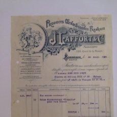 Cartas comerciales: J. LAFFORT & CIE. BORDEAUX 1924. JOSÉ RUIZ LUQUE MÁLAGA.. Lote 56687748