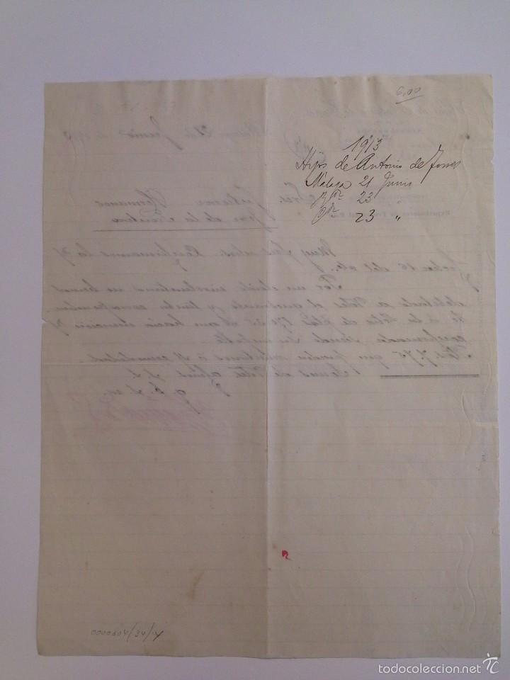 Cartas comerciales: J. LAFFORT & CIE. BORDEAUX 1924. JOSÉ RUIZ LUQUE MÁLAGA. - Foto 2 - 56687748