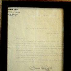 Cartas comerciales: I2-031. SOLICITUD DE ESTATUTOS DE SEGUROS MUTUOS CONTRA INCENDIOS. ARGENTINA 1912.. Lote 56635661