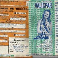 Cartas comerciales: ANTIGUAS CARTILLAS *VALISPAR*. AÑO 1969.. Lote 56751770