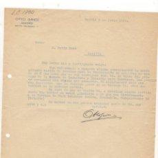 Cartas comerciales: CARTA COMERCIAL. OTTO GRIES, MADRID, 1940.. Lote 57069187