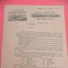 Cartas comerciales: ANTIGUA CARTA COMERCIAL GALLETAS OLIBET. RENTERÍA. AÑO 1918. (FG00153). Lote 57134374