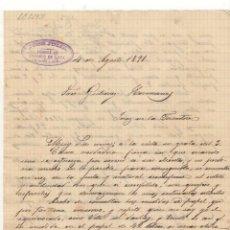 Cartas comerciales: CARTA COMERCIAL. JOSE JULIA, FABRICA DE ENVASES DE LATA, SEVILLA, 1891.. Lote 57299642