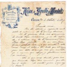 Cartas comerciales: CHELVA - 1897 - VALENCIA - HIJOS DE AGULLO - COMERCIO DE TEJIDOS-. Lote 57385874