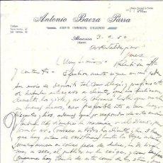 Cartas comerciales: CARTA COMERCIAL. ANTONIO BAEZA PARRA. ALMANSA (ALBACETE). AÑO 1950.. Lote 57573657