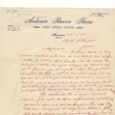 Cartas comerciales: CARTA COMERCIAL. ANTONIO BAEZA PARRA, AGENTE COMERCIAL COLEGIADO, ALMANSA, 1950.. Lote 57605273