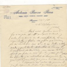 Cartas comerciales: CARTA COMERCIAL. ANTONIO BAEZA PARRA, AGENTE COMERCIAL COLEGIADO, ALMANSA, 1950.. Lote 57605289