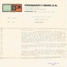 Cartas comerciales: *** K360 - CARTA COMERCIAL DE PUIGMARTI Y GRAU - 1981. Lote 57748442