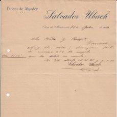 Cartas comerciales: 2 CARTAS COMERCIALES DE OLESA DE MONTSERRAT -BARCELONA- DE LOS AÑOS 1920 Y 1927 VER IMÁGENES. Lote 57847811