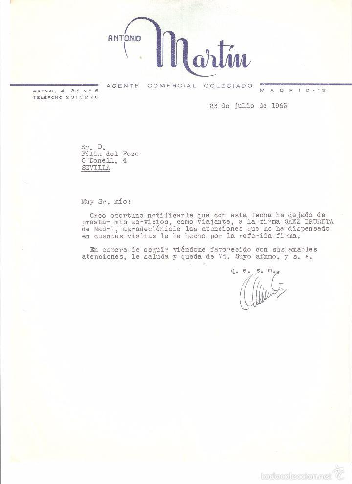 Carta comercial antonio martin agente comercia comprar cartas comerciales antiguas en - Agente comercial colegiado ...
