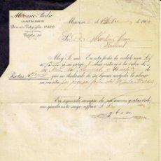 Cartas comerciales: CARTA COMERCIAL MARIANO PADRÓ COMERCIANTE MANRESA 1904.. Lote 59424830