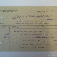 Cartas comerciales: MATADEROS INDUSTRIALES SOLER, S.A. CÁRTAMA 1958. FRANCISCO QUESADA MORILLAS.. Lote 59481527