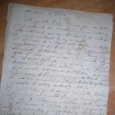 Cartas comerciales: MANUSCRITO CARTA DE LA PINTORA BLANCA MAC MAHON A SU ESPOSO EL PINTOR REYES TORRENT 1949. Lote 47406810