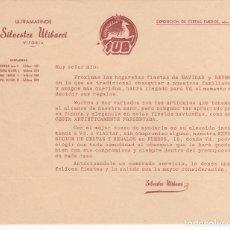 Cartas comerciales: CARTA COMERCIAL ULTRAMARINOS SILVESTRE ULIBARRI . VITORIA. Lote 63642911