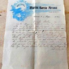 Cartas comerciales: CARTA COMERCIAL, HOTEL VICTORIA, MARCOS PEREZ ARRANZ, 1914. Lote 64135823