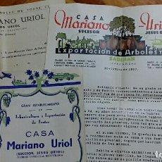Cartas comerciales: LOTE DE CARTA DE PEDIDO EN LA CASA MARIANO URIOL, SABIÑAN ZARAGOZA. PRECIOS TEMPORADA 1950 - 1951. Lote 64709315