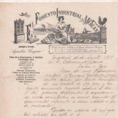 Cartas comerciales: FACTURA. MADRID. EL FOMENTO INDUSTRIAL Y MERCANTIL. DIRECTOR AGUSTÍN UNGRIA. FIRMA PROPIETARIO. Lote 66366614