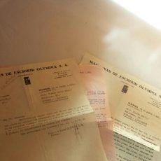 Cartas comerciales: CORESPONDENCIA ENTRE MAQUINAS ESCRIBIR OLYMPIA Y SU REPRESENTANTE EN NOVELDA 1935. Lote 66812774
