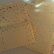 Cartas comerciales: CORRESPONDENCIA COMERCIAL ENTRE JAIME SILVESTRE FARMACEUTICO ALCOY Y SU REPRESENTANTE NOVELDA 1935. Lote 66814465