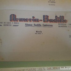 Cartas comerciales: RONDA (MALAGA). CABECERA DE CARTA COMERCIAL ARMERIA BADILLO. ALONSO BADILLO GUTIERREZ. CAZA, PESCA, . Lote 67036810