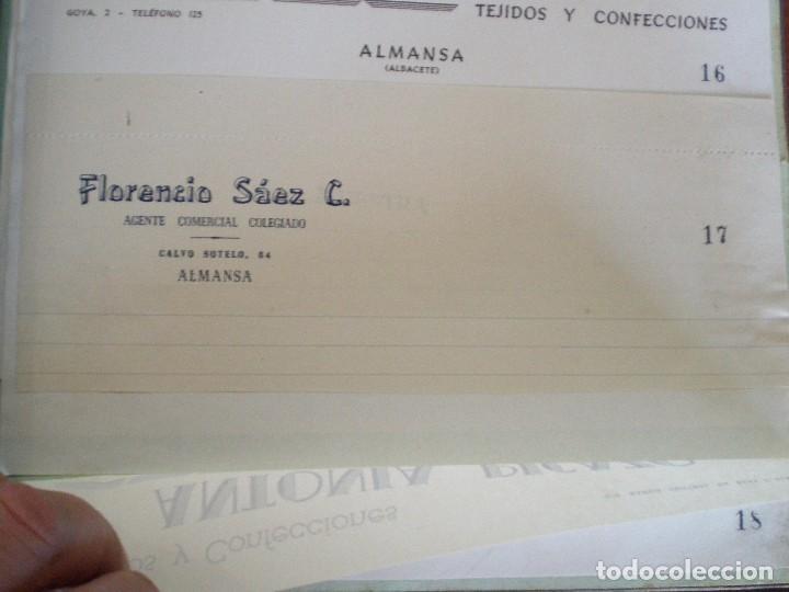 ALMANSA (ALBACETE). CABECERA DE CARTA COMERCIAL FLORENCIO SAEZ. AGENTE COMERCIAL COLEGIADO (Coleccionismo - Documentos - Cartas Comerciales)