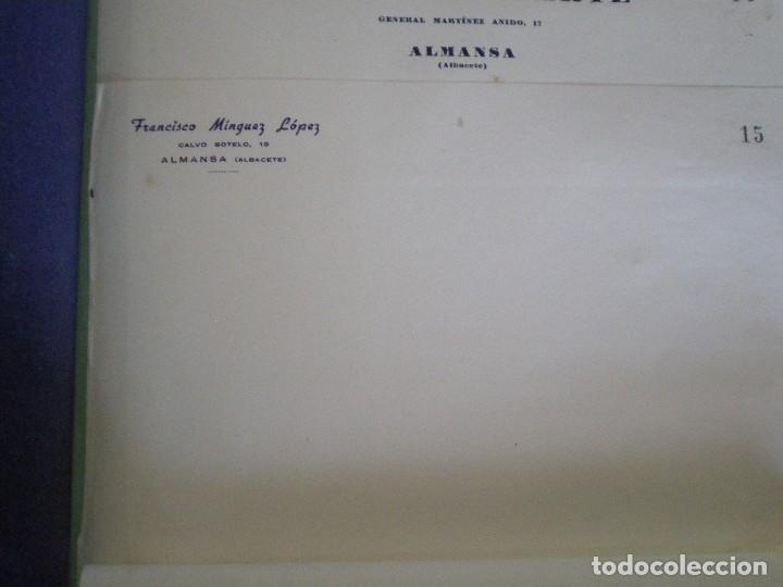 ALMANSA (ALBACETE). CABECERA DE CARTA COMERCIAL FRANCISCO MINGUEZ LOPEZ (Coleccionismo - Documentos - Cartas Comerciales)