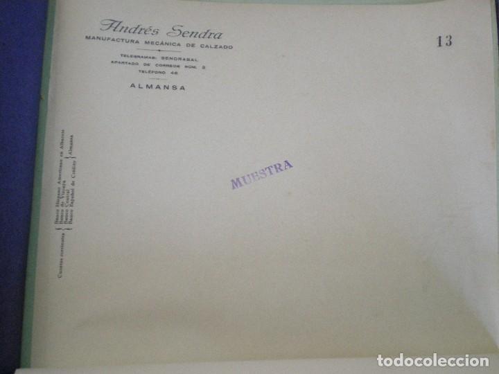 ALMANSA (ALBACETE). CABECERA DE CARTA COMERCIAL ANDRES SENDRA. MANUFACTURA MECANICA DE CALZADO (Coleccionismo - Documentos - Cartas Comerciales)