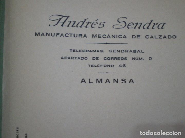 Cartas comerciales: ALMANSA (ALBACETE). CABECERA DE CARTA COMERCIAL ANDRES SENDRA. MANUFACTURA MECANICA DE CALZADO - Foto 2 - 67040138