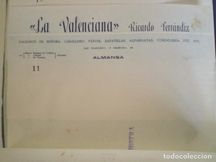 ALMANSA (ALBACETE). CABECERA DE CARTA COMERCIAL LA VALENCIANA RICARDO FERRANDIZ CALZADOS (Coleccionismo - Documentos - Cartas Comerciales)