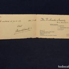 Cartas comerciales: TARJETA MEDICO NIÑOS MATERNIDAD MADRID PARTOS ENFERMEDADES MUJER LOGROÑO ANALISIS ARANDA ITURROITZ. Lote 67973825