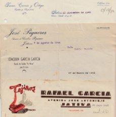Cartas comerciales: LOTE 8 CARTAS COMERCIALES DE XÀTIVA.JÁTIVA -ALICANTE- 1944-1946-1948(2)-1949(3)-1954. Lote 68534793
