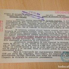Cartas comerciales: ANTIGUA CARTA COMERCIAL BALLABRIGA VIDALLER HOJALATA BARCELONA 1954. Lote 69408193