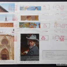 Cartas comerciales: COLECCION 11 SOBRES DE FRANQUEO MECANICO CAJA DE AHORROS Y MONTE DE PIEDAD DE VALENCIA. Lote 70350565