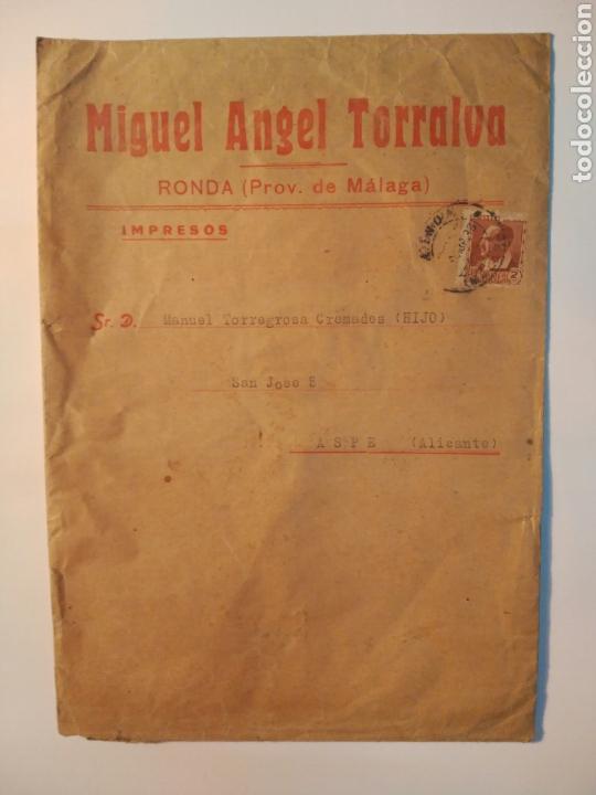 RONDA (MÁLAGA) 1933. REPÚBLICA ESPAÑOLA (Coleccionismo - Documentos - Cartas Comerciales)