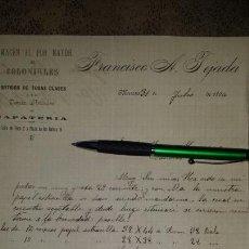 Cartas comerciales: CARTA COMERCIAL MANUSCRITA 1896- FRANCISCO A. TEJADA, MURCIA- ALMACEN COLONIALES. Lote 72311091