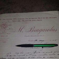 Cartas comerciales: CARTA COMERCIAL MANUSCRITA M. BRUGAROLAS- BARCELONA 1896- ACEITES, GRASAS, RAURELL. Lote 72320331