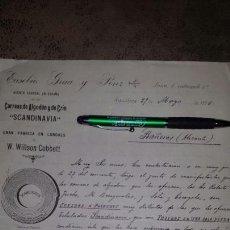 Cartas comerciales: CARTA COMERCIAL EUSEBIO GRUA Y PONZ- BARCELONA 1896- CORREAS SCANDINAVIA FÀBRICA EN LONDRES. Lote 72326023