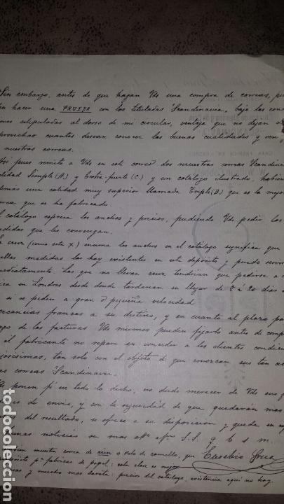 Cartas comerciales: Carta comercial EUSEBIO GRUA Y PONZ- BARCELONA 1896- CORREAS SCANDINAVIA FÀBRICA EN LONDRES - Foto 2 - 72326023