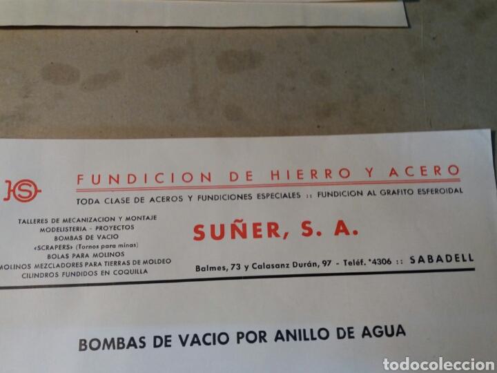 SUÑER. S.A. SABADELL. FUNDICIÓN DE HIERRO. (Coleccionismo - Documentos - Cartas Comerciales)