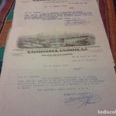 Cartas comerciales: DOS DOCUMENTOS 1939 Y 40 COMPAÑIA FABRIL FABRICAS DE MANTAS Y TEJIDOS DE LANA Y ALGODÓN MALLORCA. Lote 75011947