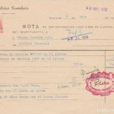 Cartas comerciales: CARTA COMERCIAL. JESÚS LATAS SANTOLARIA. HUESCA. 1955.. Lote 76715403