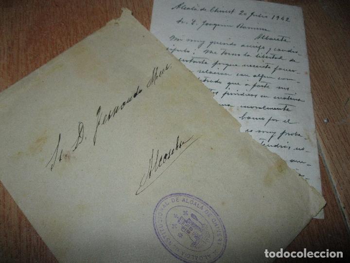 Cartas comerciales: CARTA FAMILIA RICARDO MUR SANCHO VALENCIA FERNANDO MUR 1942 MANUSCRITO 4 PAGINAS CHIVERT - Foto 2 - 26555665