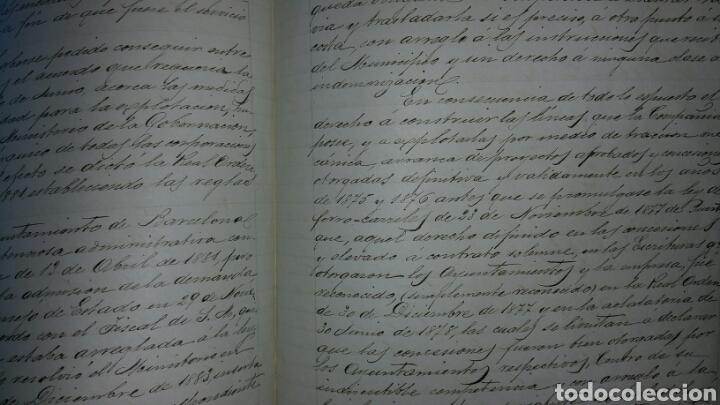 Cartas comerciales: Documentos sobre la creación del tranvía en Barcelona año 1876 - Foto 2 - 78297999