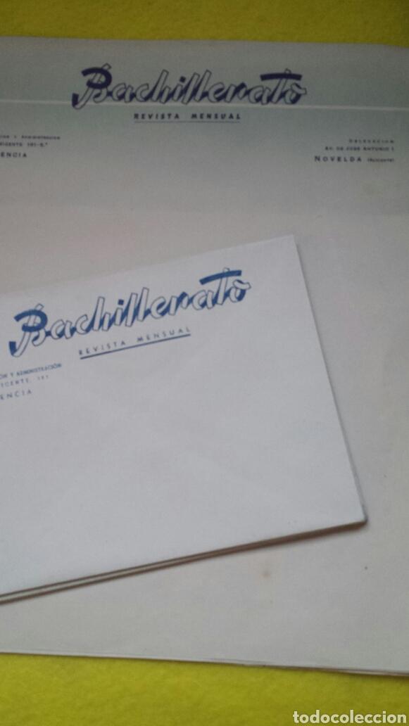 LOTE 9 SOBRES Y 4 CARTA BACHILLERATO REVISTA MENSUAL- VALENCIA NOVELDA . AÑOS 30 (Coleccionismo - Documentos - Cartas Comerciales)