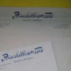 Cartas comerciales: LOTE 9 SOBRES Y 4 CARTA BACHILLERATO REVISTA MENSUAL- VALENCIA NOVELDA . AÑOS 30. Lote 78435789