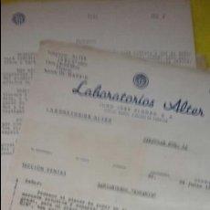 Cartas comerciales: ¡ÚNICO! CIRCULAR LABORATORIOS ALTER. LANZAMIENTO NUEVO MEDICAMENTO KETAMIM . AÑO 1941. Lote 78442345